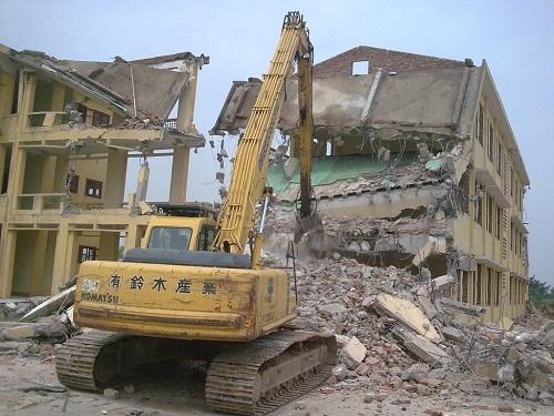 Phá dỡ công trình Huyện Cần Giờ
